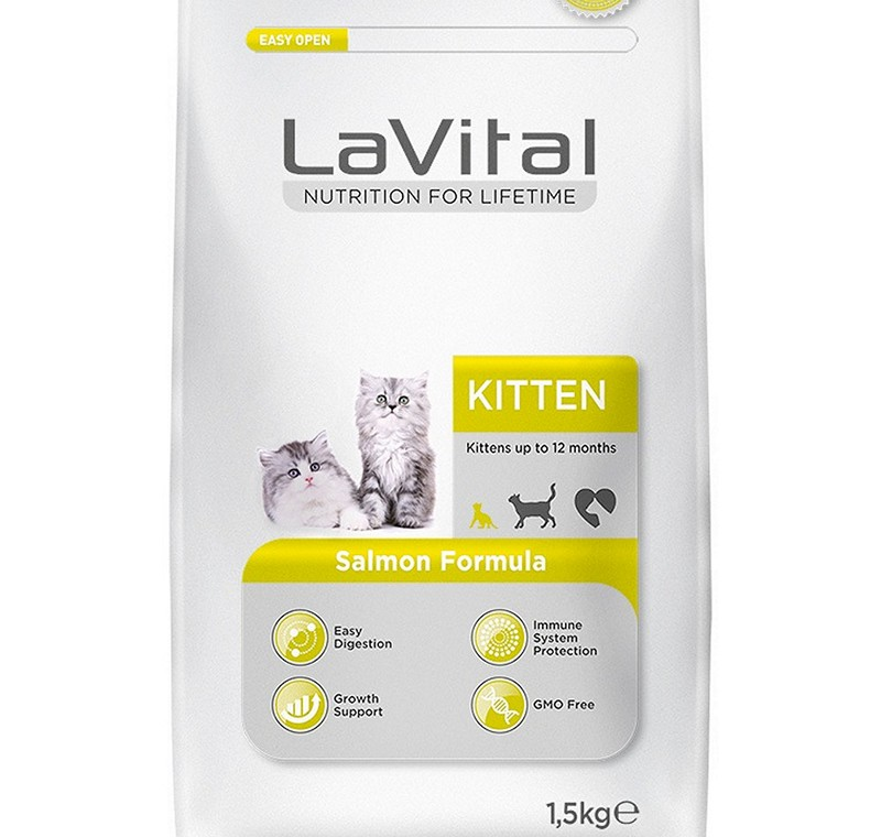 LA VITAL CAT KITTEN SALMON 1,5 KG -