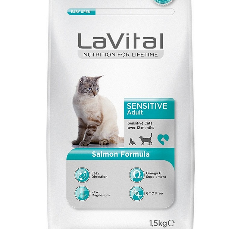 LA VITAL CAT ADULT SENSITIVE  SALMON 1,5 KG -