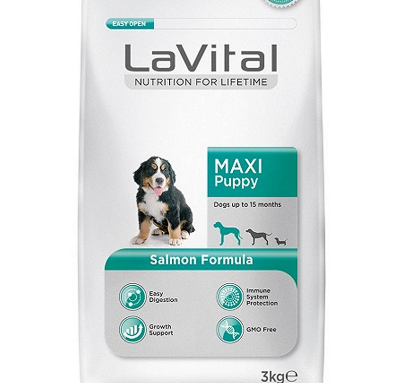 LA VITAL DOG MAXI PUPPY SALMON 3  KG -