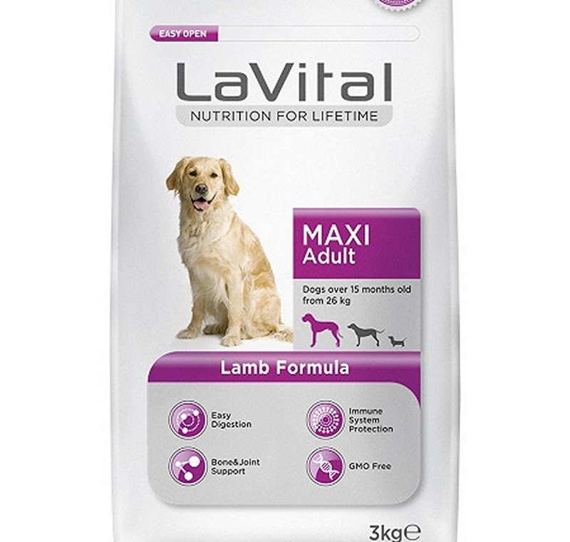 LA VITAL DOG MAXI ADULT LAMB 3 KG -