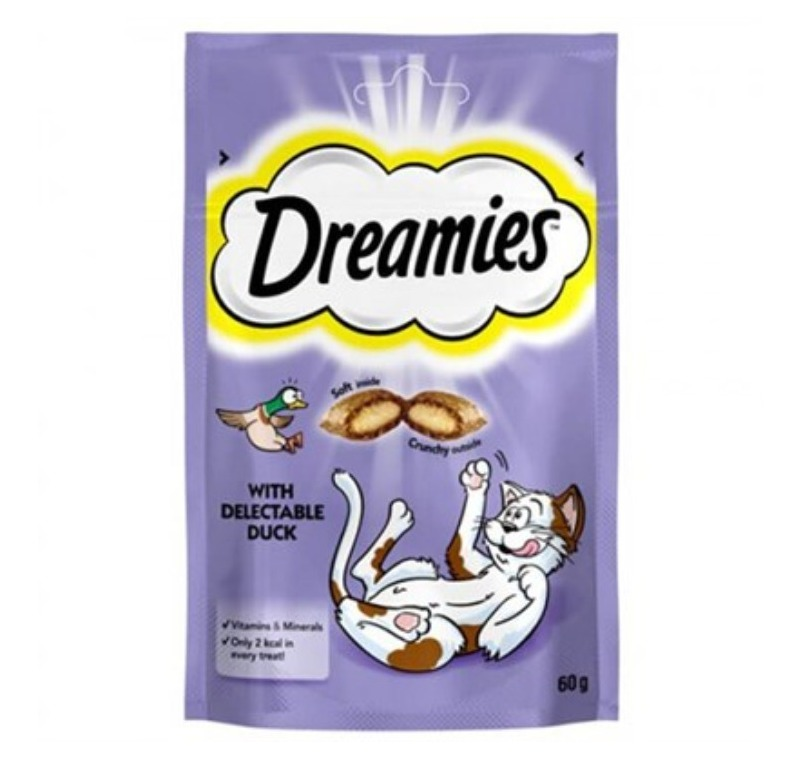Dreamies With Delectable Duck 60gr. -329229