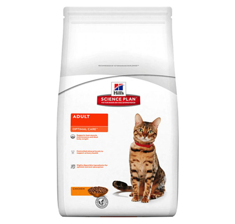 Hills Adult Optimal Care Tavuklu Yetişkin Kedi Maması 15 Kg -