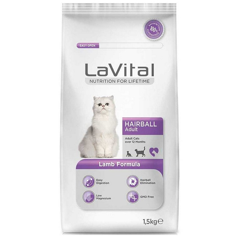 LA VITAL CAT ADULT HAIRBALL LAMB  1,5 KG -