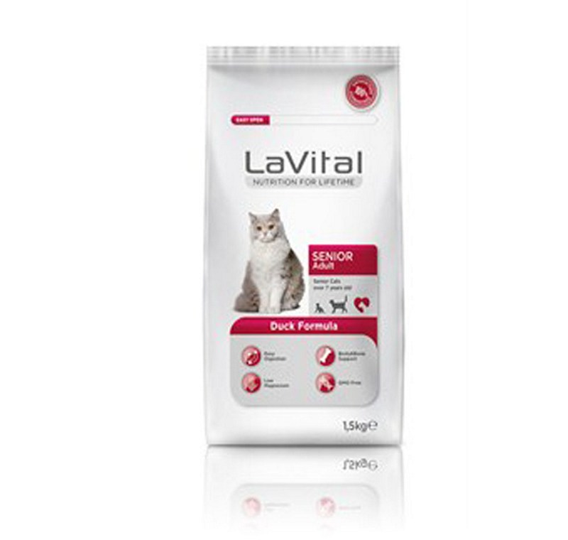 LA VITAL CAT ADULT SENIOR DUCK 1,5  KG -